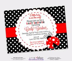 ladybug baby shower invitation lady bug invitation my little