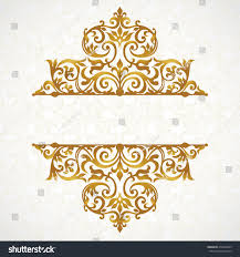vector lace pattern victorian style on stock vector 270460499