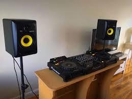 Studio Monitor Stands For Desk by Full Setup Pioneer Cdj 900 Djm700 Decksavers Rokit Krk 6