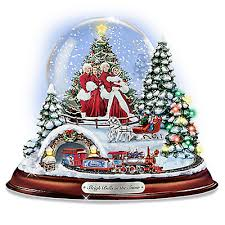 kinkade white musical collectible snow globe
