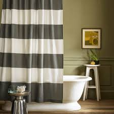 Gray Ruffle Shower Curtain Trending In Bathroom Decor 50 Shades Of Grey Shower Curtains