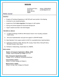 Sap Fico Sample Resume 3 Years Experience by Sap Resumes For Experienced Sap Hr Resume Sample Resume Cv Cover