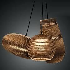 Paper Hanging Lamp Rice Paper Pendant Lamp Shade Contemporary Origami Moth Studio