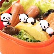 cuisine bento nouveautés set de 8 piques kawaii à bento apéritif panda