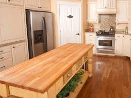 butcher block top kitchen island butcher block kitchen islands hgtv