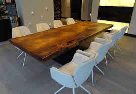 contemporary dining table solid wood rectangular commercial