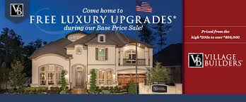 Village Builders Patio Homes Free Luxury Upgrades On Select Inventory Homes By Village Builders