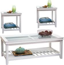 rooms to go coffee tables and end tables santos white 3 pc table set table sets white