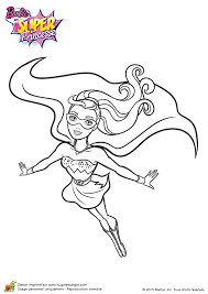 coloriage barbie super princesse devient super paillette