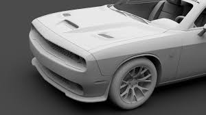 Dodge Challenger Models - dodge challenger srt hellcat go mangoo 2017 3d model max obj 3ds