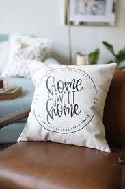 ticking throw pillow black stripe rustic modern decor modern