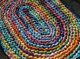 Easy Crochet Oval Rug Pattern The Best Size Crochet Hook For Rag Rugs Ehow Rag Rug Diy