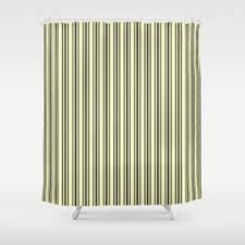 Black Ticking Curtains Ticking Shower Curtains Society6