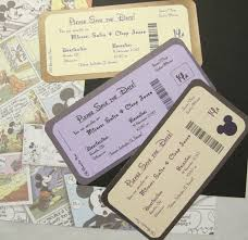 Boarding Pass Wedding Invitation Card Disney Themed Save The Date Invite Boarding Pass Etsy All