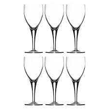 michelangelo set of 6 clear white wine glasses 22 5cl buy now at
