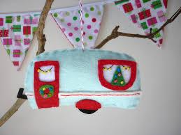 retro christmas caravan u2013 christmas decoration made to order felt