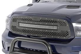 ram 1500 light bar bumper mesh replacement grille with 30in dual row black series led for 2013