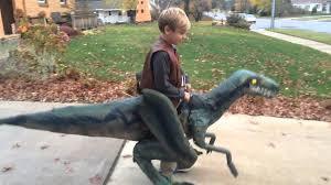 Jurassic Park Halloween Costume Halloween Jurassic Blue Velociraptor Walking Costume
