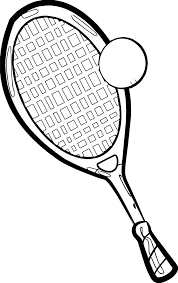 best ball and racket playing tennis coloring page wecoloringpage