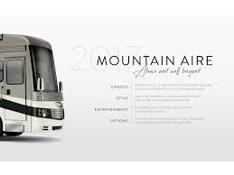 2017 newmar mountain aire brochure rv literature