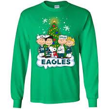 snoopy christmas sweatshirt snoopy the peanuts philadelphia eagles christmas sweaters best