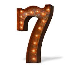 marquee numbers with lights 24 number 7 seven sign vintage marquee lights marquee lights