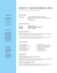 professional nursing resume template best 20 nursing resume