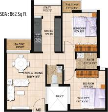 Smart Floor Plan by 862 Sq Ft 2 Bhk 2t Apartment For Sale In Artha Midas At Neo Smart