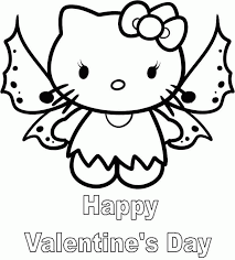 free printable hello kitty valentine coloring pages coloring home
