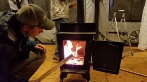 army tent vs yurt shower and a fireplace youtube