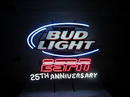 bud light lighted sign bud light espn 25th anniversary neon lighted sign ptci classifieds