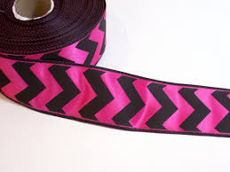 offray ribbon pink and black satin chevron wired ribbon 1 1 2 inches wide x 25