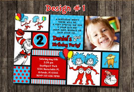 dr seuss birthday invitations cat in the hat dr seuss thing 1 2 birthday party photo invitations
