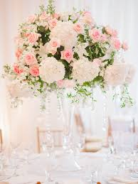 elegant pink rose and white hydrangea centerpiece elizabeth anne