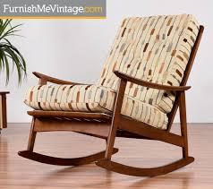 mid century modern rocking chair made in yugoslavia
