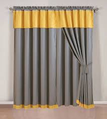 Yellow White Curtains Curtain Curtain Yellow Gray Curtains And Grey Valance Gentle
