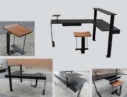 bureau metal et bois 20 best bureaux deco images on wood veneer