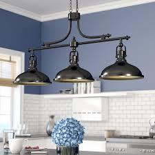 3 light kitchen island pendant beachcrest home martinique 3 light kitchen island pendant reviews