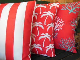 Red Pillows For Sofa by Red Coral Aqua Outdoor Beach Pillow Cover Decorative Nautical