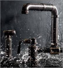 industrial faucets kitchen waterworks takes on steunk with collection kitchen mixer