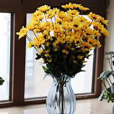 Artificial Sunflowers Online Cheap Free Ship 54 Heads Sunflower Party Use Artificial