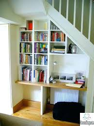stair bookcase under stairs shelving shelves stairs large size of under stair