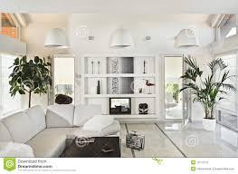 White Living Room Snow White Living Room Modern Interior Stock Photography Image