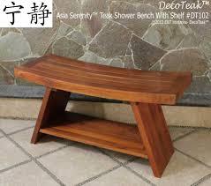 Bath Shower Stool Decoteak Extended Double Teak Wood Asia Shower Bench Chair