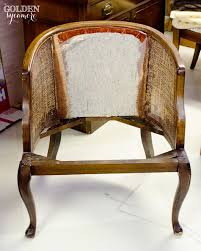 Reupholster Armchair Tutorial Tufted Cane Chair Tutorial How To Take It Apart The Golden