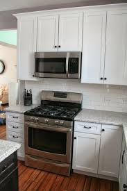 Microwave In Kitchen Cabinet by Home Accessories White Kitchen Cabinets With Amerock And Under
