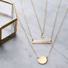 white gold initial disc necklace best 25 personalised necklaces ideas on initial