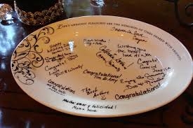 wedding guest book platter signature plates another guest book alternative larry