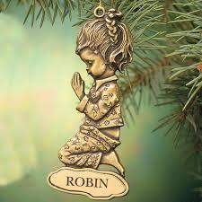 personalized christmas ornaments for girls christmas miles kimball
