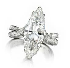 marquise cut diamond ring a marquise cut diamond ring of 4 72 carats by sterle circa 1950